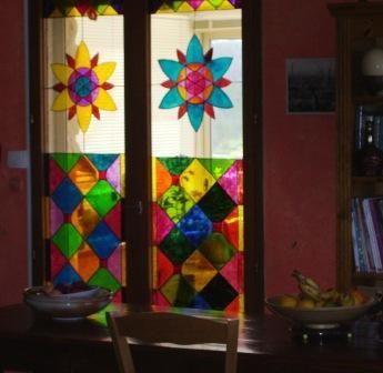 Vitrail sur porte fen tre for Fenetre en vitrail
